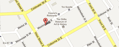 Information Orillia on google map