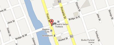 Volunteer and Information Quinte on google map
