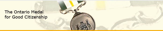 Ontario Medal for Good Citizenship Banner