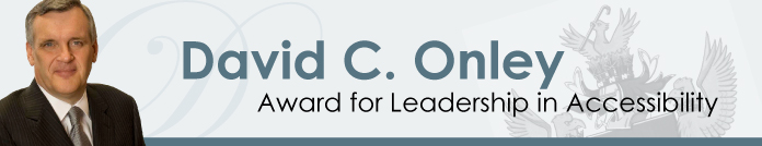 Image of the David C. Onley Award for Leadership in Accessibility web banner
