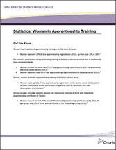Statistics: Women in Apprenticeship Training