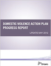 Domestic Violence Action Plan Progress Report Update May 2012