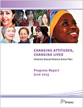 2013 Progress Report: Ontario's Sexual Violence Action Plan